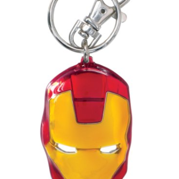 Marvel Iron Man Classic Face Color Pewter Keyring image