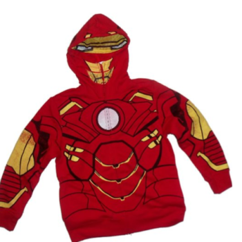 Iron Man Marvel Hoodie Zipper-Fleece Youth Sweatshirt image