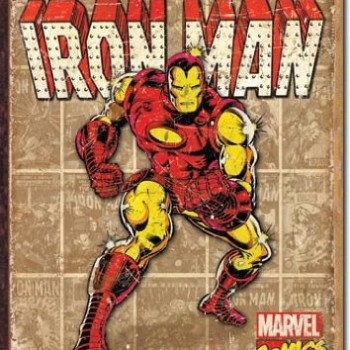 Iron Man – Retro Panels Metal Tin Sign image